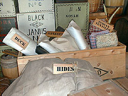 a box of different types of cloth