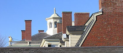 the roofs and chimneys of Salem Maritime