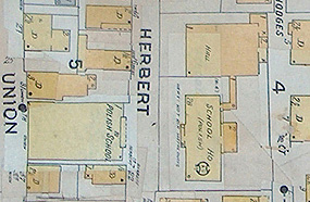 detail of an early twentieth century map of Salem