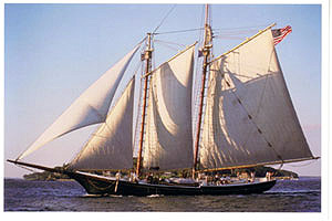 The Lettie G. Howard under sail