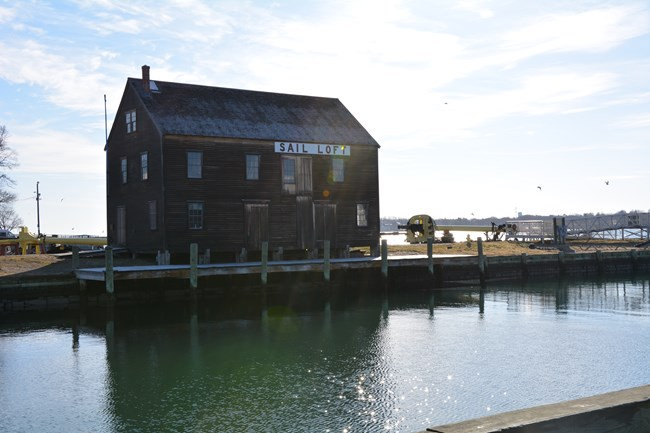 Pedricks store house on Derby Wharf