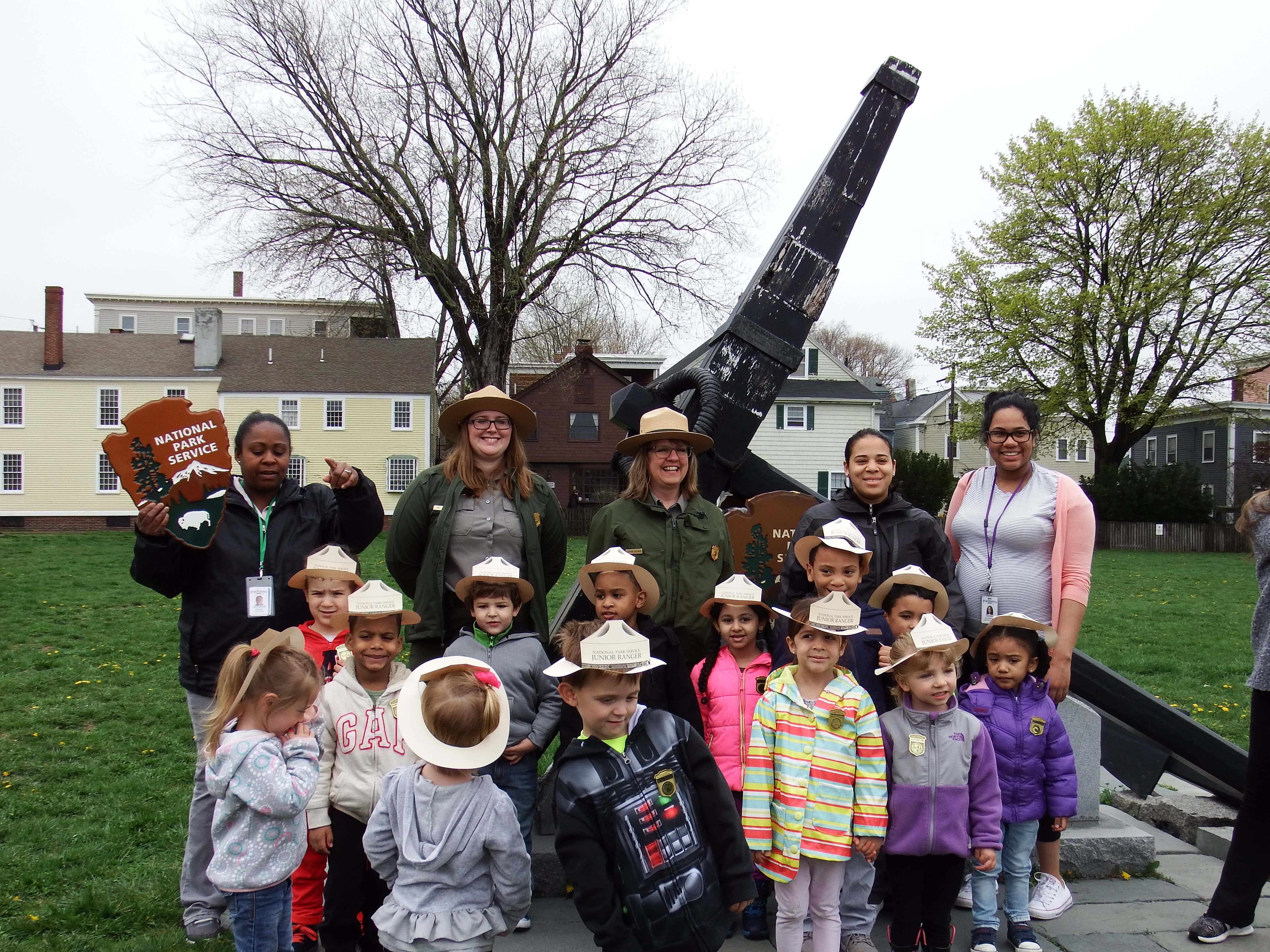 Education Rangers help preschoolers learn about the site