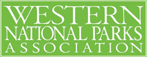 This is a graphic for the Western National Parks Association - Proudly helpinh to support our National Parks since 1938!