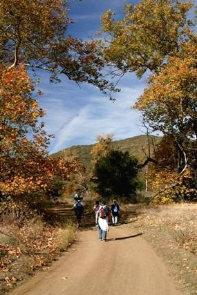 Hikers start out on the first leg of the Backbone Trail in Pt. Mugu State Park.