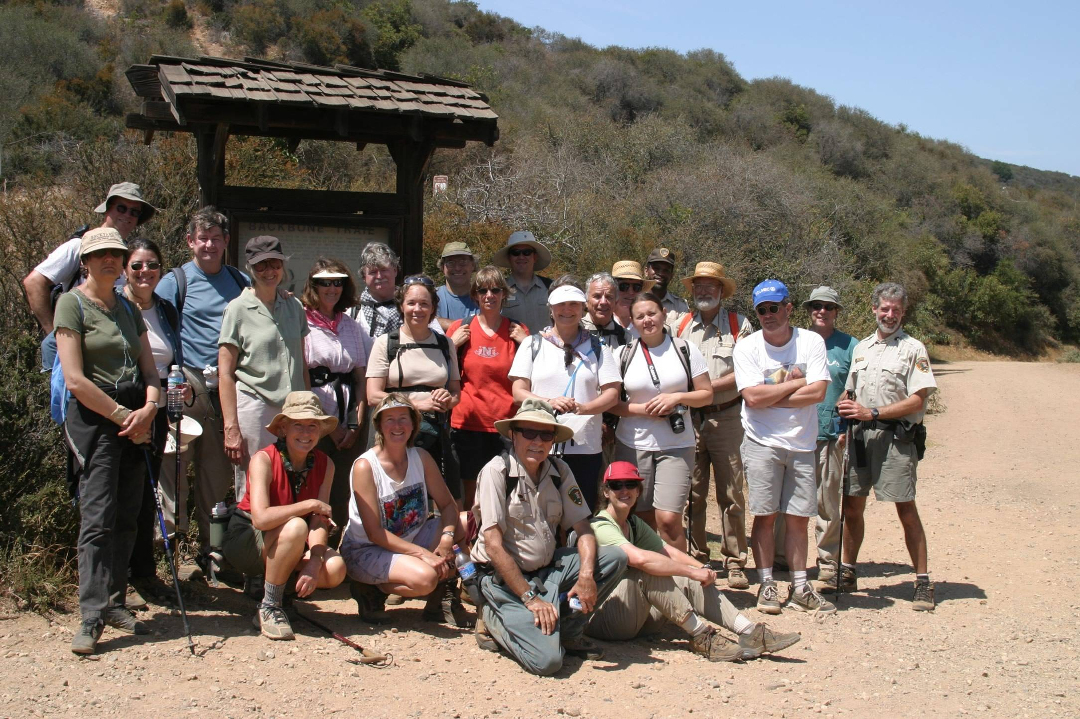 The first year group of Backbone Trail hikers at the end (Will Rodgers)