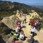 Backbone Trail Hikers at Castro Crest