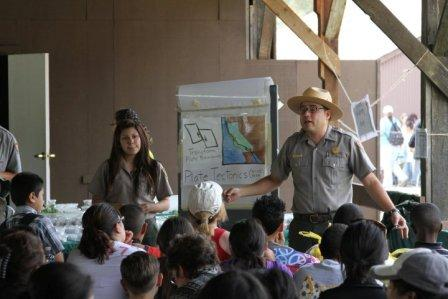 Rangers share the excitement of science at the park's annual science festival!