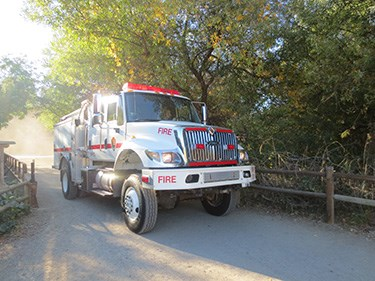 The park's Type 3 wildland fire engine is ready for the next fire.