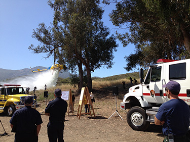 Multiple agencies gather for pre-fire season demonstration.