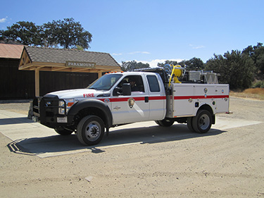 The park's type 6 wildland fire engine waits for the next call.