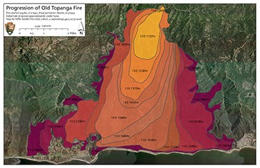 Progression of the 1993 Old Topanga Fire