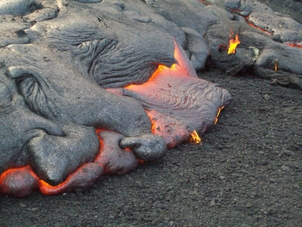 Lava flow in Kalapana, Hawaii