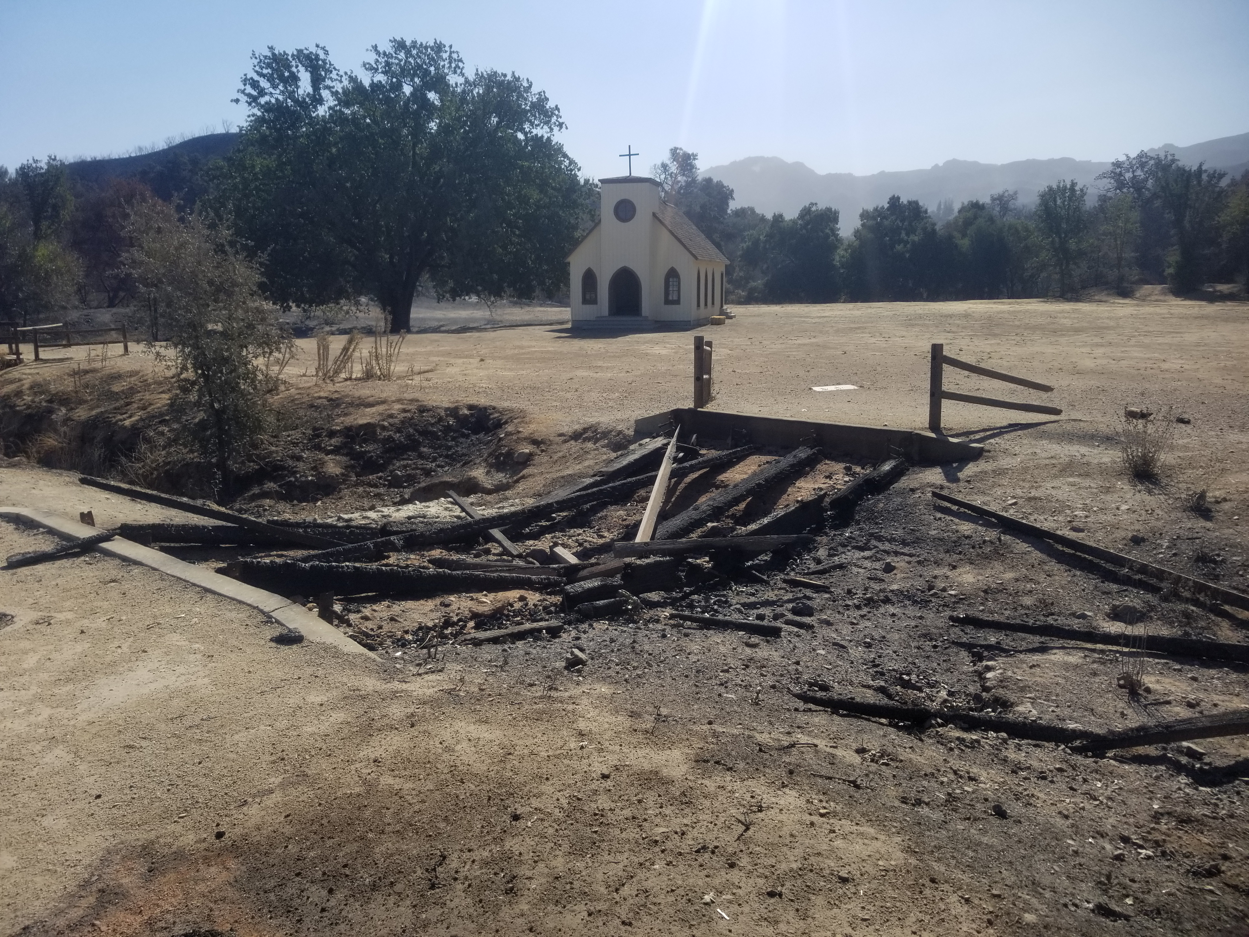 Paramount Ranch Chapel Woolsey Fire