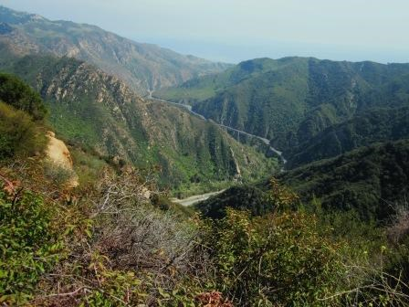 A view down Malibu Canyon from the Backbone Trail.