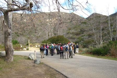 2012 Backbone Trail (BBT) hikers stage at the Ray Miller Trailhead in Point Mugu State Park.