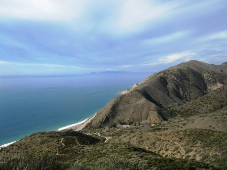 Channel Islands National Park can be seen in the distance from vistas along the Ray Miller Trail in Point Mugu State Park.