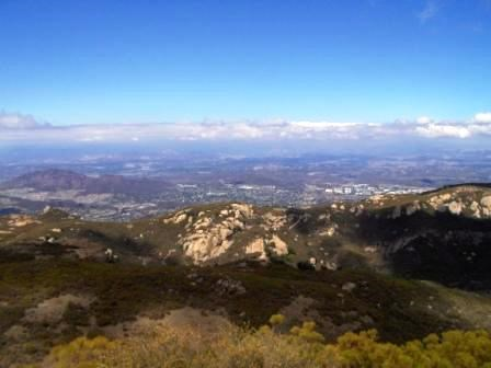 From Sandstone Peak, the Conejo Valley looks small and far away as you escape into nature.