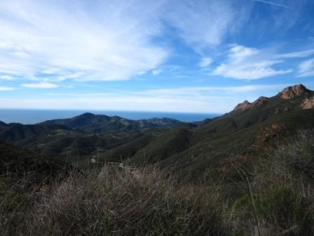 From the Backbone Trail you can see the Pacific Ocean and high points of the Santa Monica Mountains at the same time!
