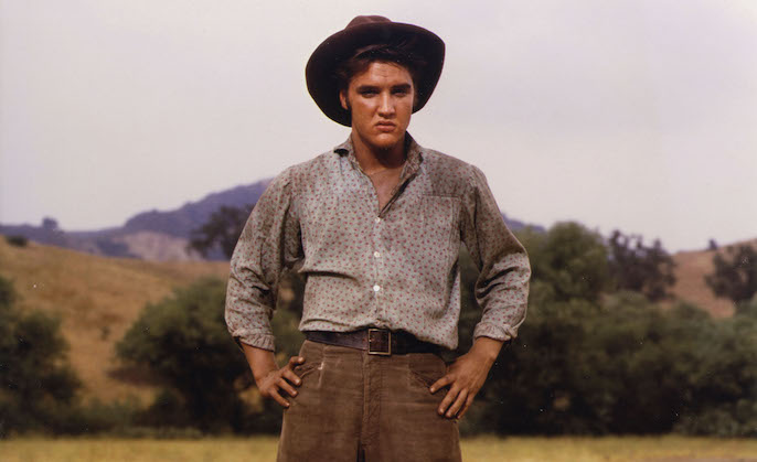 "The Santa Monica Mountains is often referred to as Hollywood's Movie Mountains. Above, Elvis Presley at what is now Malibu Creek State Park during the filming of the 1956 movie ""Love Me Tender."" Photo courtesy of Mike Malone."