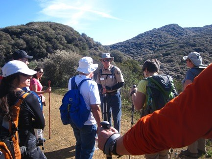 Beginning of the hike with information from Group Leader.