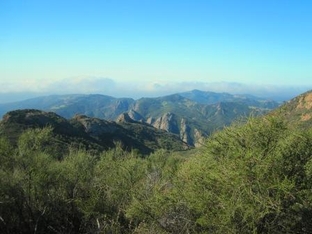 The Santa Monica Mountains extend there distances in places as far as the imagination stretches.