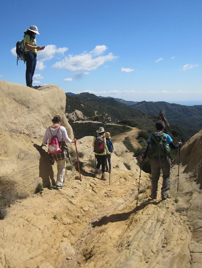 Hikers on the Backbone Trail.