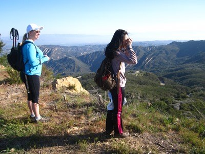 Group hikers enjoying the views.