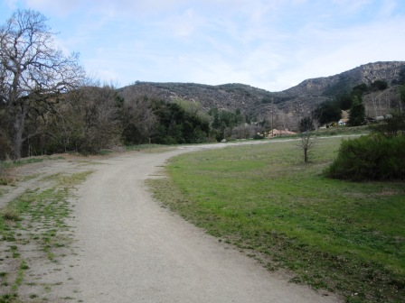 Turn 1 of the Paramount Ranch racetrack is now used as a hiking trail.