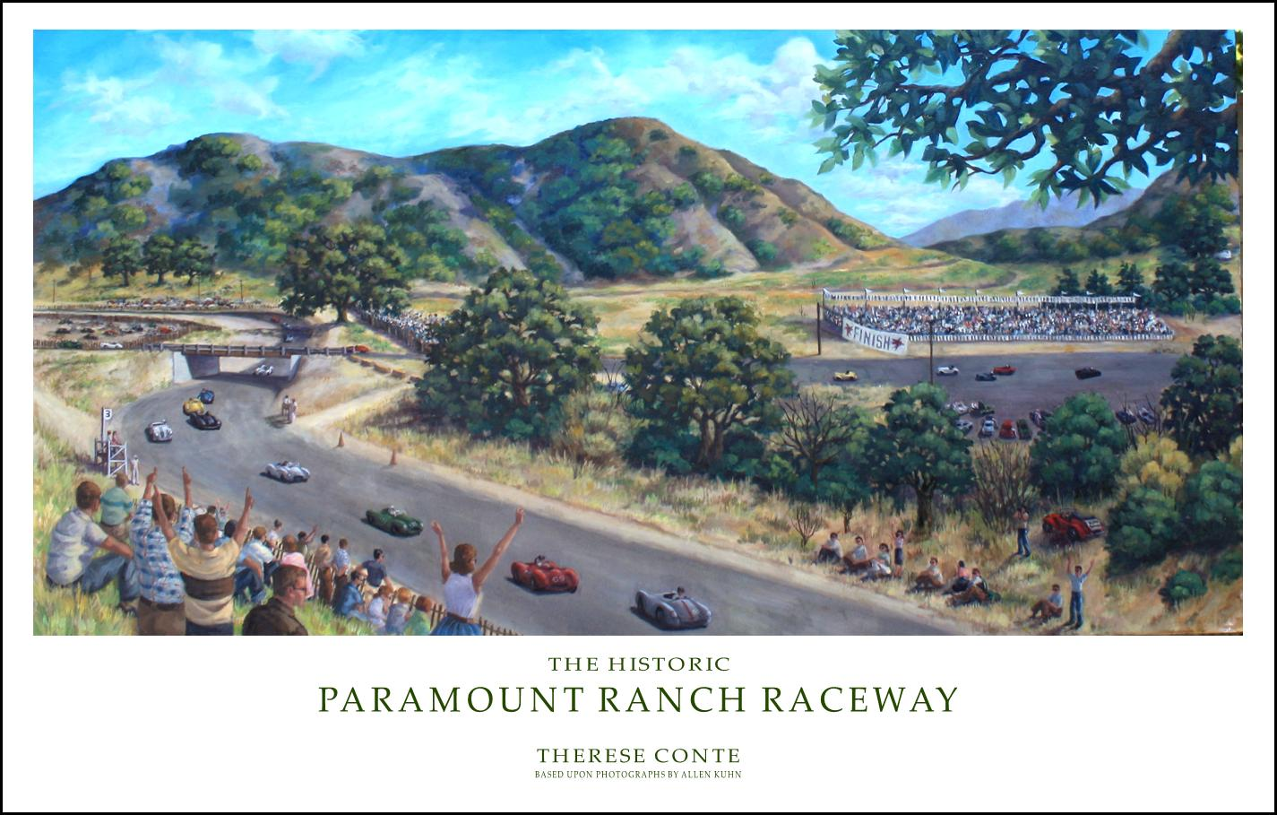 Painting of Paramount Ranch Raceway