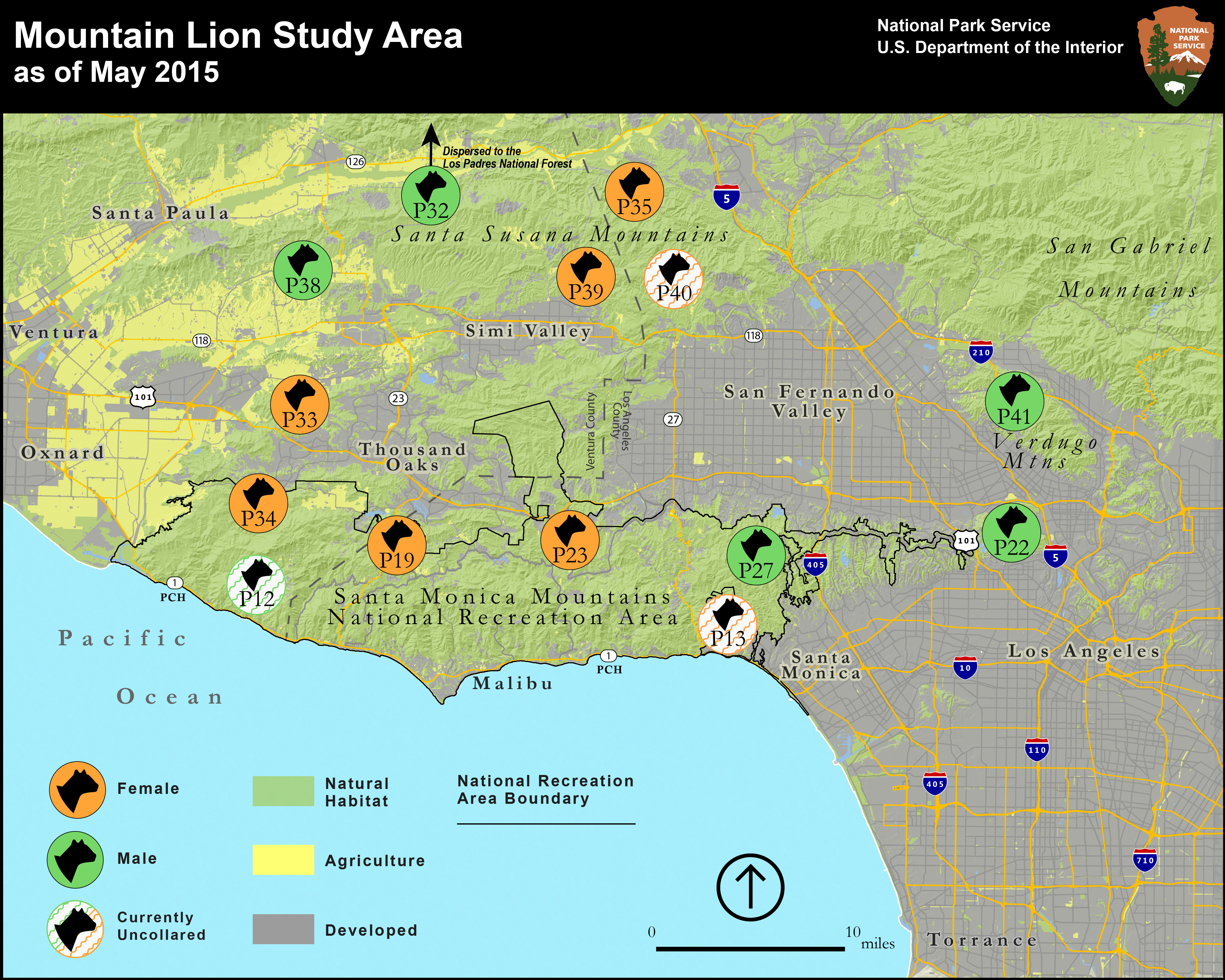 National Park Service Begins Tracking Mountain Lions In The - Los angeles pollution map