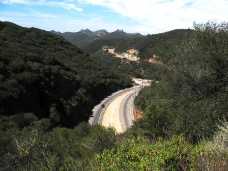 View of Kanan Road from the BBT on top of Tunnel 1