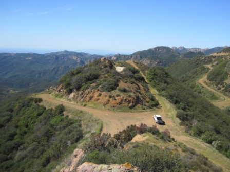 The newest Backbone Trail acquisition along the Etz Meloy Motorway - NPS Photo