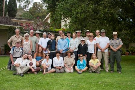 2012 BBT hikers pose for a picture at the end at Will Rogers State Historic Park.