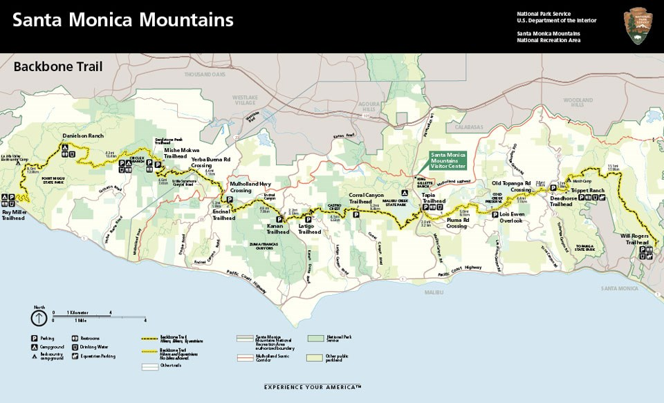 Backbone Trail (BBT) - Santa Monica Mountains National Recreation Area  (U.S. National Park Service)