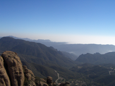 Using your GPS unit, you can explore new places, such as Sandstone Peak at Circle X Ranch with a view of the ocean and mountains.