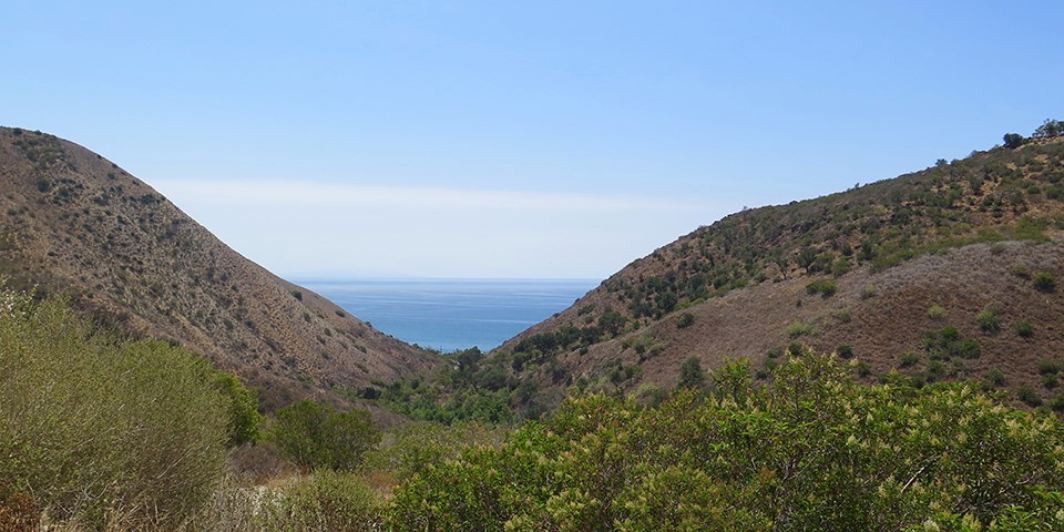 Views of the Pacific Ocean from Solstice Canyon