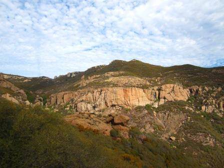 A view of the Echo Cliffs from the Mishe Mokwa Trail. Here climbers from around the world visit to experience the nation's largest urban national park.