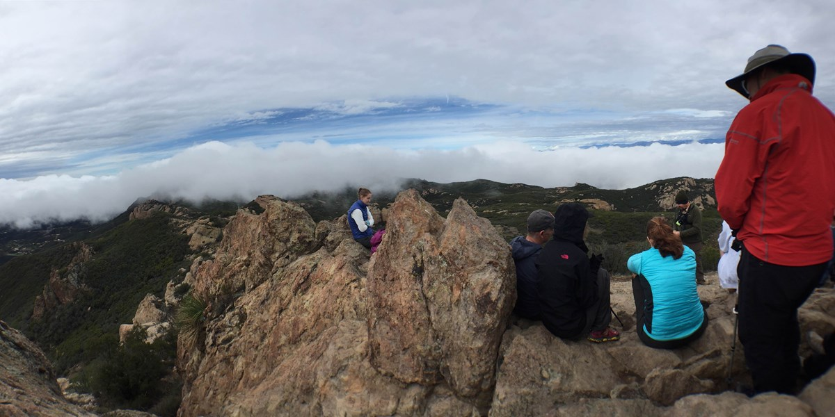 Backbone Trail hikers