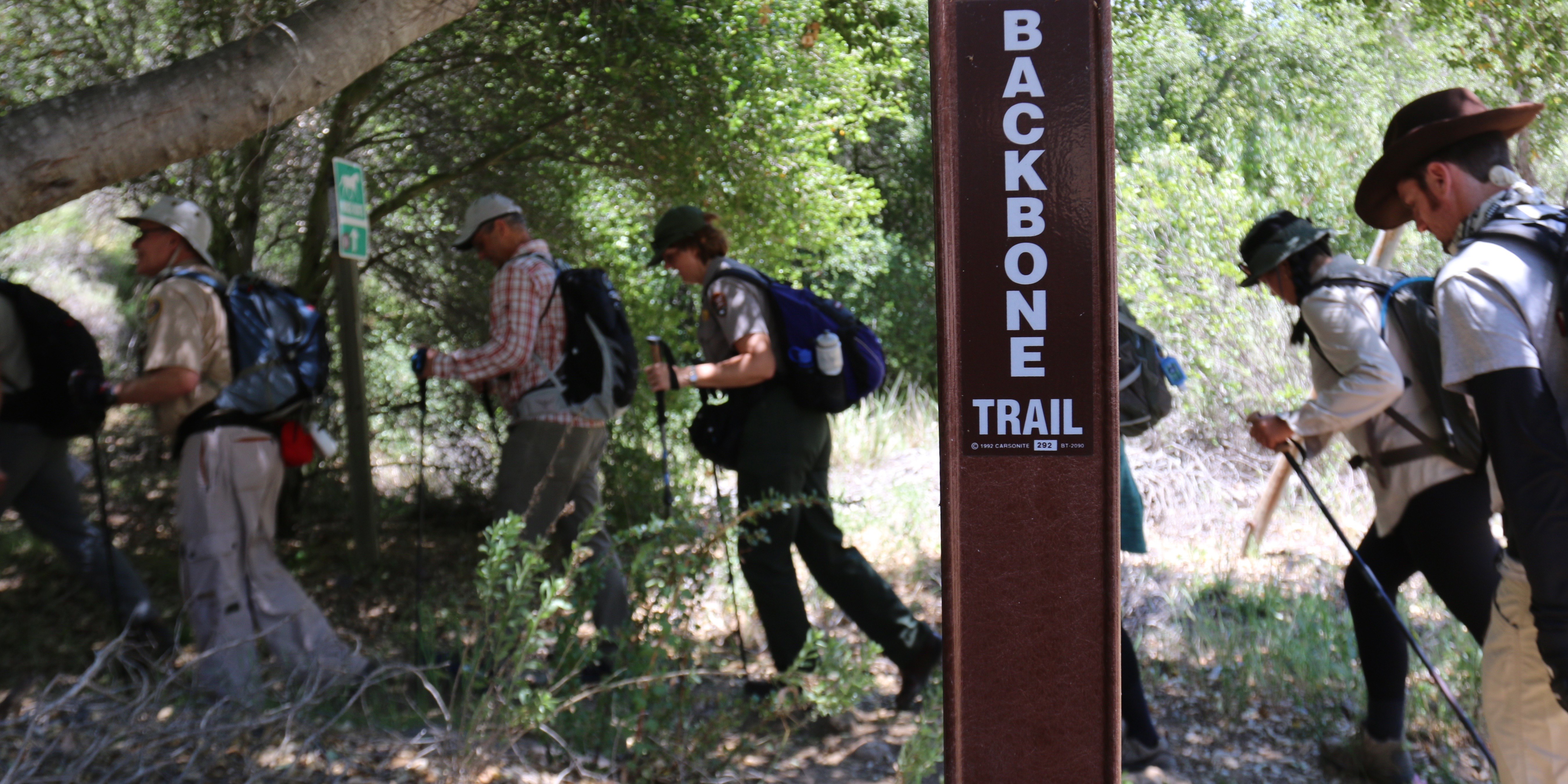 Hikers on the Backbone Trail