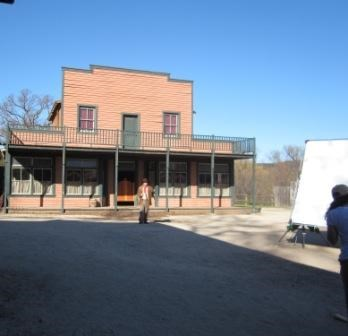 Actors playing western characters are sometimes seen during permitted filming at Paramount Ranch.