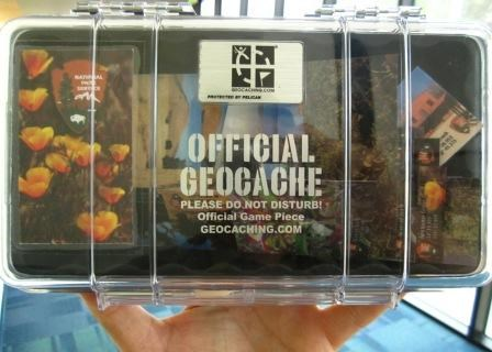 This a traditional geocache that contains collectable puzzle pieces of different park sites.
