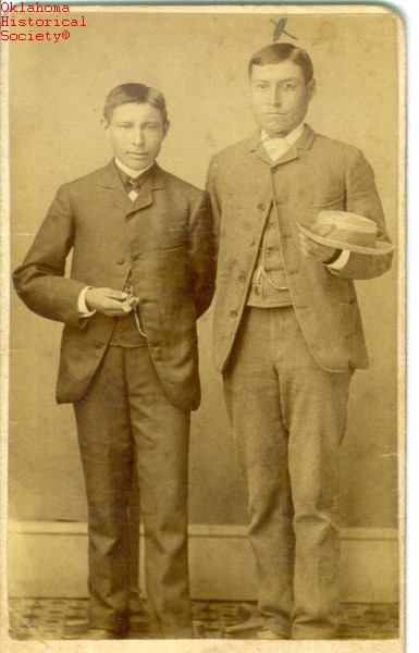 Riggs, Stacy, right, and associate at the Carlisle Indian School