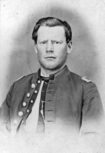 Captain Silas Soule in his U.S. Army Officers uniform, photo taken in either 1863 or 1864