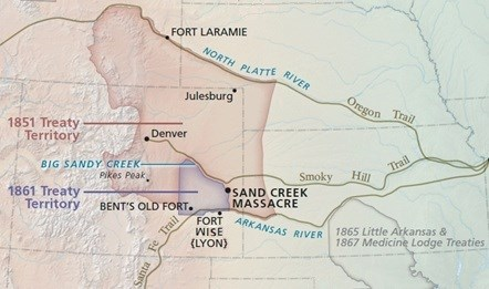 A Tale of Two Treaties - Sand Creek Macre National ... Sand Creek Macre Trail Map on