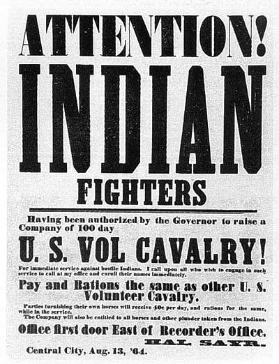 Recruiting Poster for the 3rd Colorado US Volunteer Cavalry Regiment