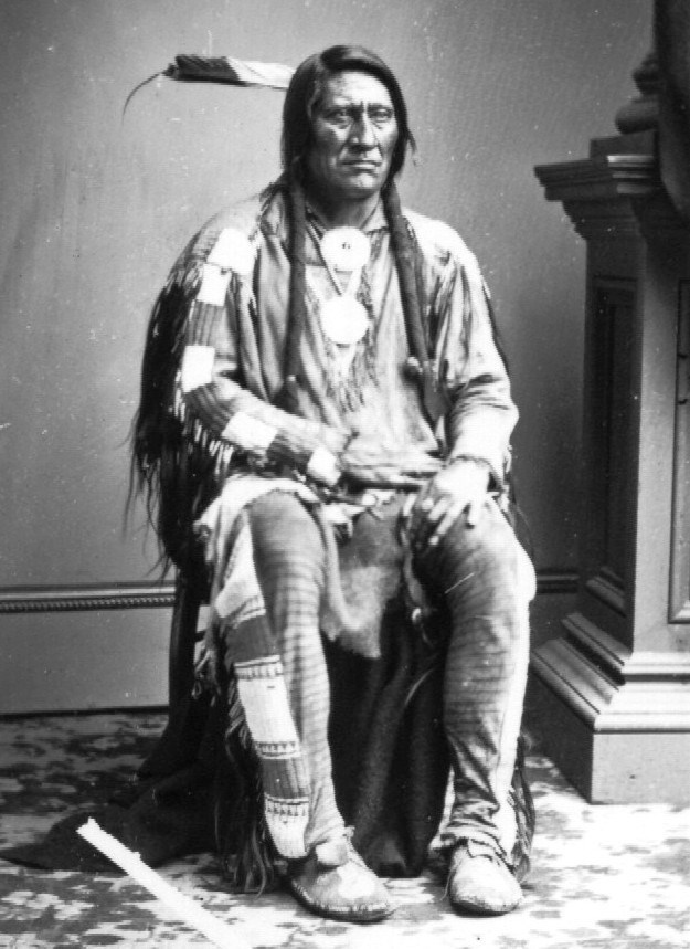 Photograph of Cheyenne Chief believed to be Lean Bear taken in 1863, Washington, D.C.