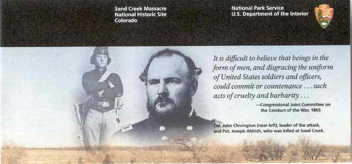 Sand Creek Massacre brochure - front top right image.
