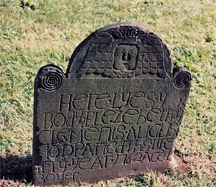 Headstone for Elezebeth Clements who died in 1762
