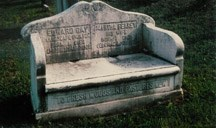 Memorial gravestone bench honoring Edward Gay