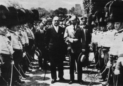 Franklin D. Roosevelt, with the Old Guard, at St. Paul's Church, June 1931. NPS
